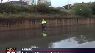 Palermo, pioggia e allagamenti: fino a domani allerta meteo