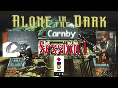Alone in the Dark gameplay of original game (on 3DO) as Carnby w-commentary part 1  