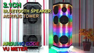 Bluetooth Speaker | Acrylic Tower | VU Meter | Night Lamp #03