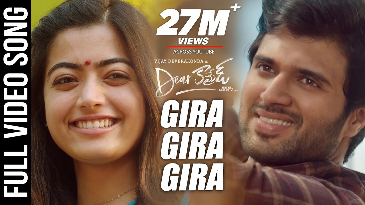 Download Dear Comrade Video Songs - Telugu | Gira Gira Video Song | Vijay Deverakonda,Rashmika | Bharat Kamma