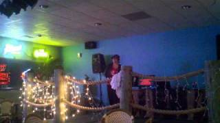 Amazing Karaoke singer at The Firewater Grille.