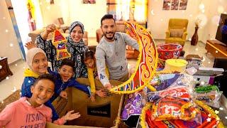 فتح صندوق زينة رمضان الجديده🎊(استعدوا لمفاجاه غير متوقعه🤩)