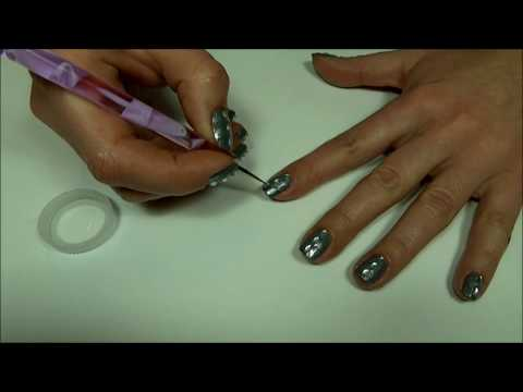 Rain Drop On Grey Chrome Nails Embrace The Gray Diy Nail Art