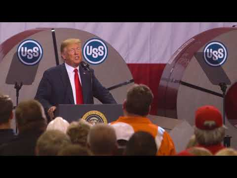 President Trump visits Granite City steel plant in Illinois
