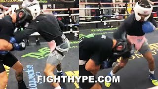 GERVONTA DAVIS BUSTS UP SPARRING PARTNER TO MAYWEATHER'S DELIGHT; BRUTAL BODY SHOTS FOR SANTA CRUZ
