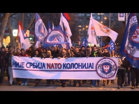 LIVE: Anti-NATO protest held in Belgrade