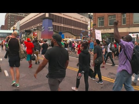 Crowd Marches Through Downtown Mpls. On 2nd Day Of Yanez Verdict Protests