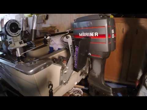 Installing kicker motor mount on Fishing Machine