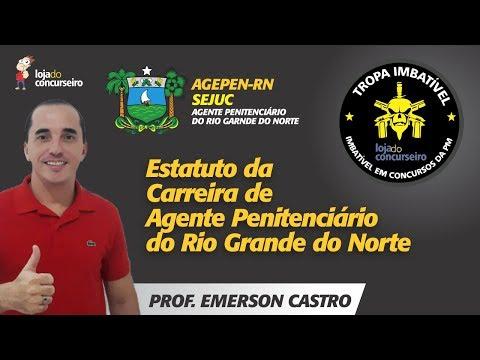 Estatuto da Carreira de Agente Penitenciário do Rio Grande do Norte - Concurso SEJUC-RN