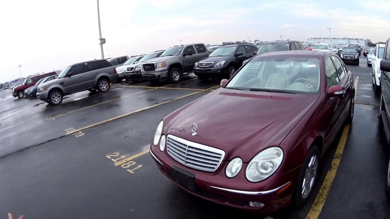 PRATICAMENTE NOVO NO LEILÃO!!2005 MERCEDES BENZ E320 3.2L V6 18V 221HP. PREÇO USADO NOS EUA-USA.🇺🇸