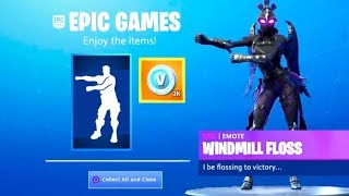 CLAIM YOUR GRATIS EMOTE A Fortnite! (FLOSS WINDMILL)