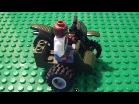 Как сделать из лего мотоцикл с коляской инструкция