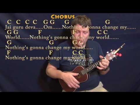 Across The Universe (The Beatles) Ukulele Cover Lesson In C With Chords/Lyrics