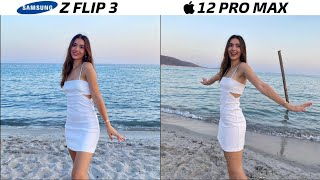 Samsung Galaxy Z Flip 3 vs iPhone 12 Pro Max Camera Test
