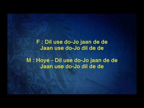 Dil Use Do Jo Jaan De De - Andaz -Full Karaoke