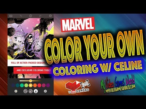 MARVEL COLOR YOUR OWN APP | COLORING WITH CELINE | MY VIDEO GAMES WORLD