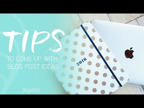 5 Ways To Come Up With Blog Post Ideas
