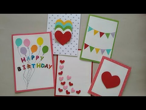 5 Cute & Easy Greeting cards | Srushti Patil