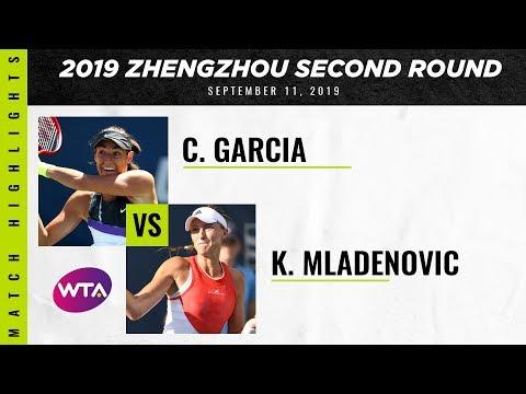 WTA Zhengzhou round 2 | Kristina Mladenovic vs. Caroline Garcia | Highlights
