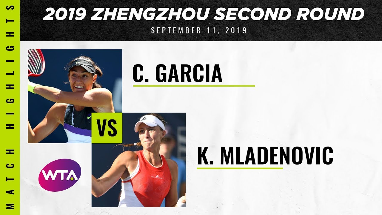 Kristina Mladenovic vs. Caroline Garcia | 2019 Zhengzhou Open Second Round | WTA Highlights