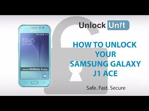 How To Unlock Samsung Galaxy J1 Ace Youtube