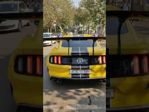 Ford Mustang Crazy Exhaust sound and Burn out 😍 / Supercars in India #supercars #shorts