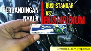 Perbandingan Nyala Busi Standar VS Busi Iridium NGK