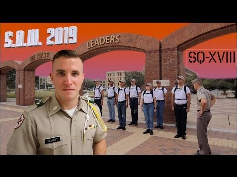 Corps Of Cadets Orientation Week At Texas A&M | SQ-XVIII S.O.W.