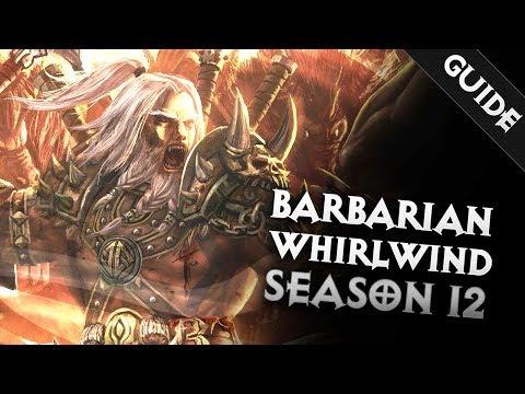 Diablo 3  BARBARIAN WRATH OF THE WASTE: WHIRLWIND BUILD SEASON 12 GR 110   PWilhelm