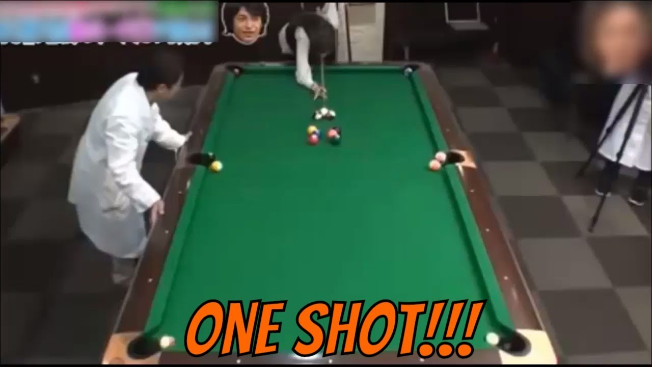 All Balls In ONE SHOT Using Science   Pool