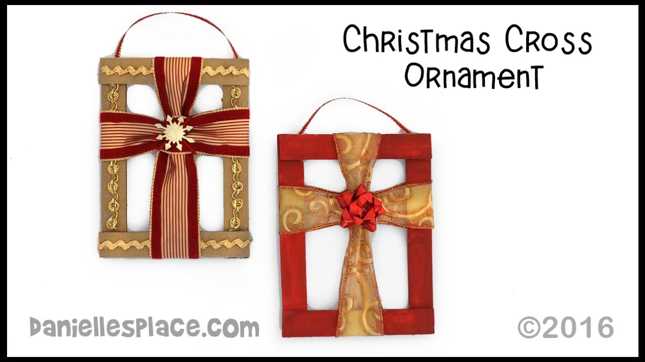 Christmas cross craft youtube for Cross craft for kids