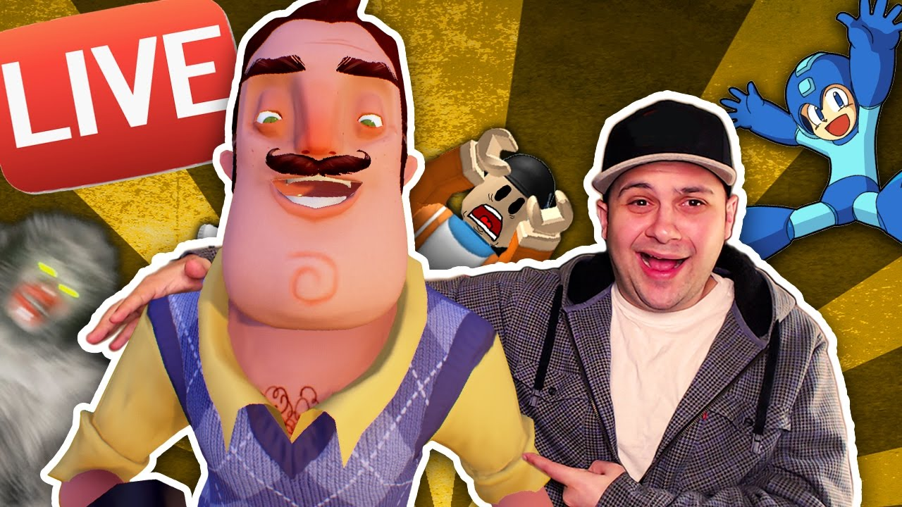 HANGING OUT WITH HELLO NEIGHBOR AND OTHERS TOO! LIVE! | One Year On YouTube Celebration LIVESTREAM!