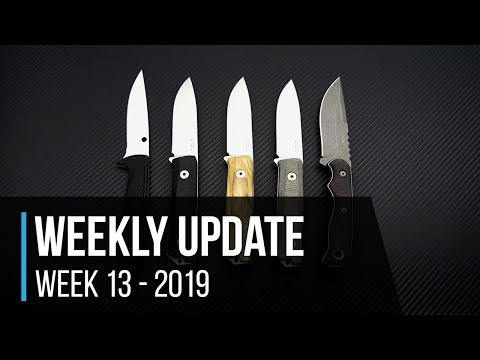 Weekly Update 13 - 2019: TOPS, Spyderco & LionSteel Fixed Blades, ZT 0452GL Sprint & More!