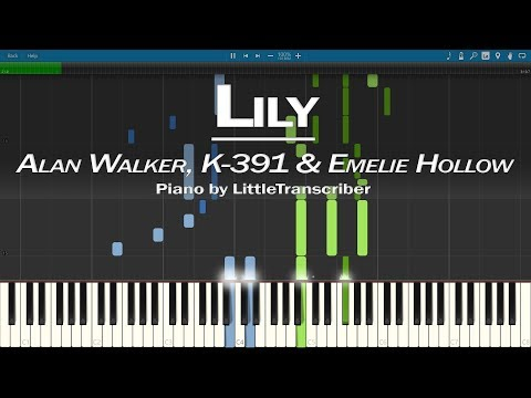 alan-walker,-k-391-&-emelie-hollow---lily-(piano-cover)-synthesia-tutorial-by-littletranscriber