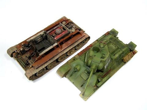 How to build T-34/76 Hobby Boss 1/48 Part 3 exterier