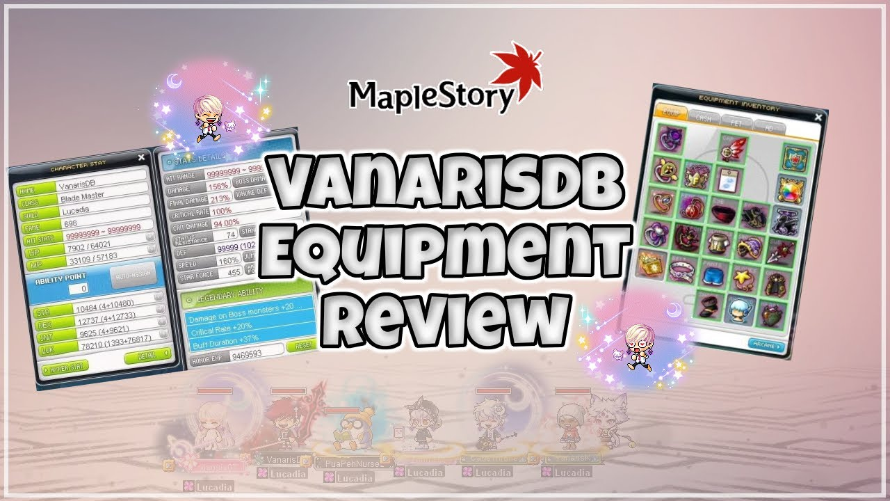 [MapleStory SEA] VanarisDB's Dual Blade 2021 Equipment Review!