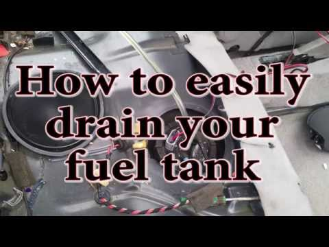 How to easily drain your fuel tank