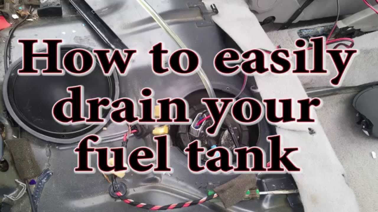 How to easily drain your fuel tank  YouTube