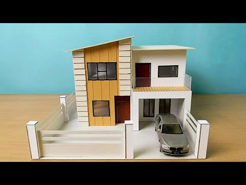 How To Make Simple Miniature House | Modern House Design