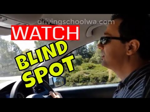 Blind Spot Seen From Different Perspective - Learner Driver Guide - Driving School WA