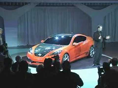 La 2007 Hyundai Concept Genesis Coupe Live Reveal Youtube
