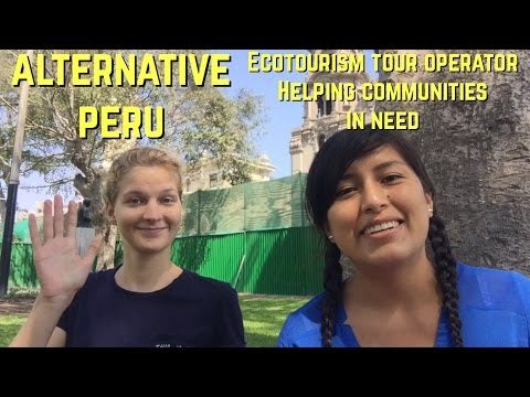 Interviewing Carolien from the tour operator, Alternative Peru