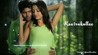 Kaatrukullae 😘bgm video song WhatsApp status 💞 from Sarvam movie🔥