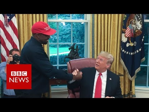 Kanye-Trump bromance on show - best bits - BBC News