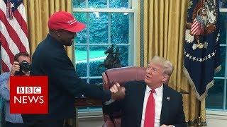 Kanye-Trump bromance on show - best bits - BBC News