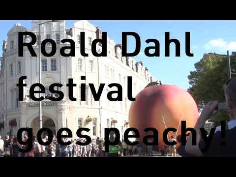 Giant peach takes to the streets of Cardiff to celebrate Roald Dahl