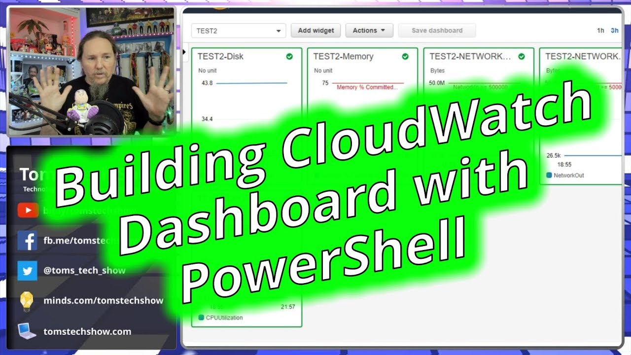Using Powershell to Create AWS CloudWatch Dashboards