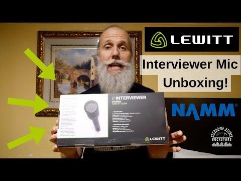 Lewitt INTERVIEWER mic unboxing! - Winter NAMM 2018