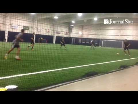 VIDEO: Players go through drills during FC Peoria's Summer College Soccer  Training Program, run by