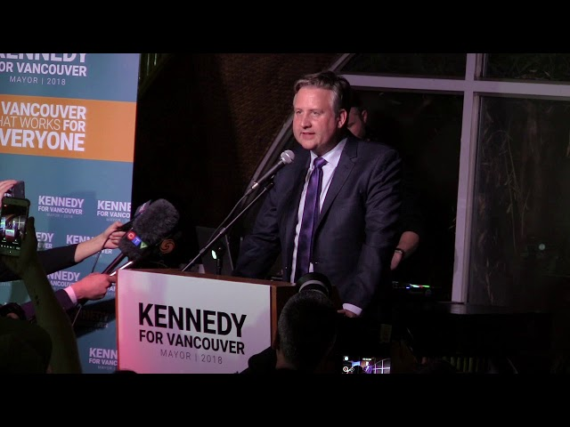 Vancouver's new mayor-elect Kennedy Stewart says he's ready to start working on his platform promises immediately, including tackling housing supply and stemming the opioid crisis. Stewart won with a slim margin.